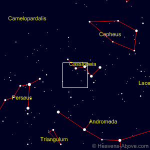 Finder chart showing Comet Lovejoy's position on March 8, 2015. Courtesy of Heavens-Above.com