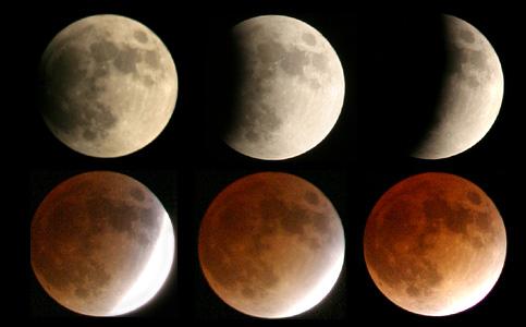 Total lunar eclipse on November 8, 2013.