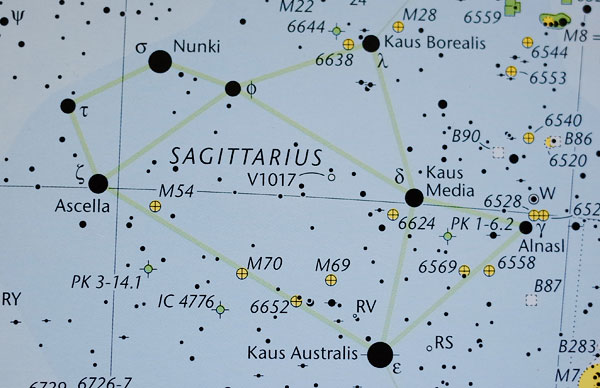 "If Nova Sagitarii 2015 No. 2. was charted in the Pocket Sky Atlas it would appear under the letter ""U"" in ""Sagittarius""."