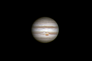 This photograph of Jupiter, taken by Ray Webster on April 16, 2015, shows many of the same features I observed on April 17.