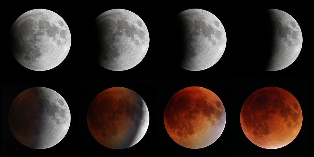Total lunar eclipse on September 27, 2015.
