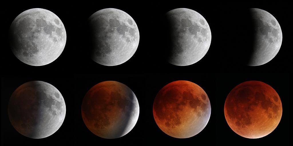 Total lunar eclipse on September 27, 2015.