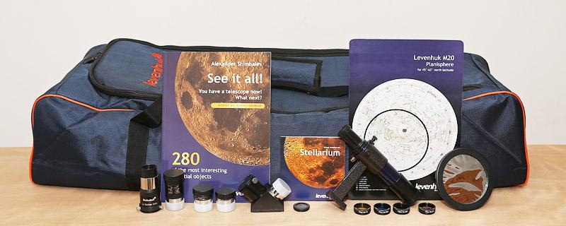 The Levenhuk Strike 900 Pro includes a comprehensive set of accessories.